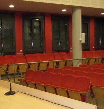 Equipo de sonido, iluminación y proyección del Salón de actos del instituo Ramón Arcas de Lorca